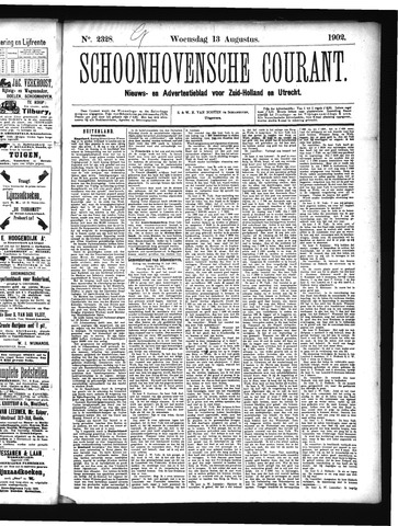 Schoonhovensche Courant 1902-08-13