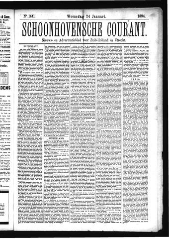 Schoonhovensche Courant 1894-01-24