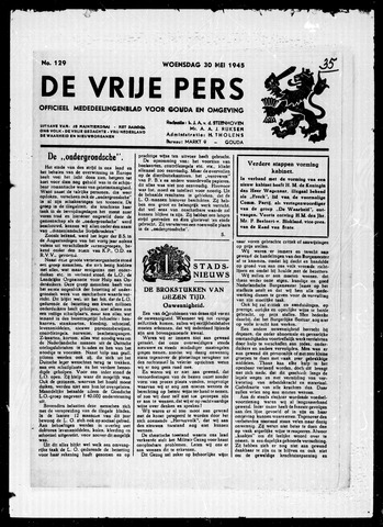 De Vrije Pers 1945-05-30
