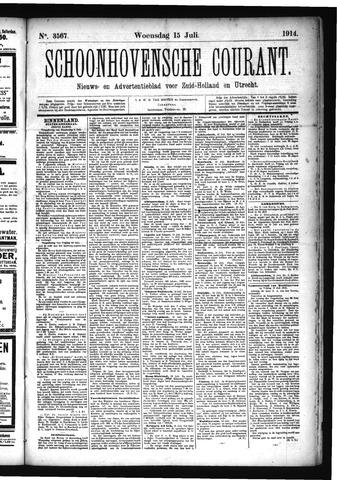 Schoonhovensche Courant 1914-07-15