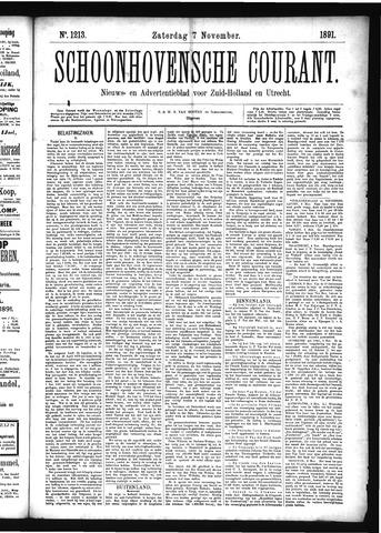 Schoonhovensche Courant 1891-11-07