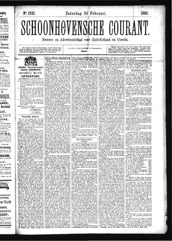Schoonhovensche Courant 1892-02-20