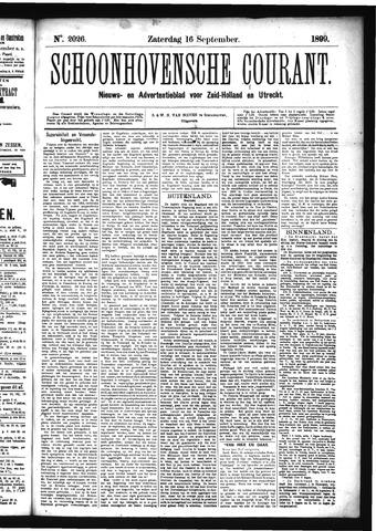 Schoonhovensche Courant 1899-09-16