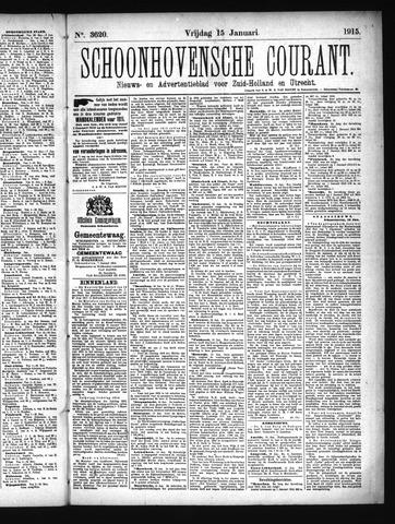 Schoonhovensche Courant 1915-01-15