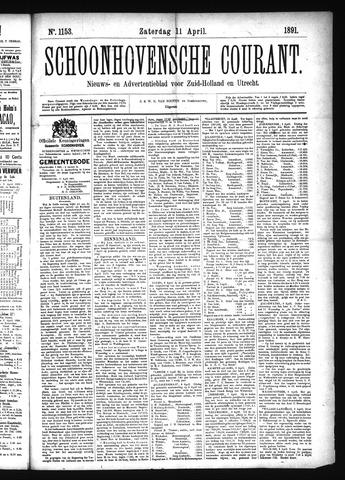 Schoonhovensche Courant 1891-04-11