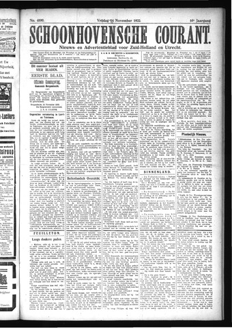 Schoonhovensche Courant 1922-11-24
