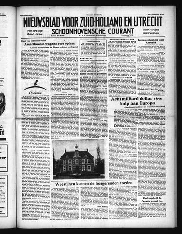 Schoonhovensche Courant 1952-03-07