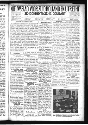 Schoonhovensche Courant 1934-05-30