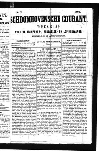 Schoonhovensche Courant 1869-08-15