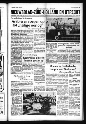 Schoonhovensche Courant 1969-08-25