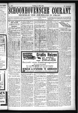 Schoonhovensche Courant 1925-05-22