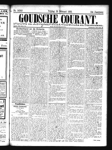 Goudsche Courant 1920-02-20