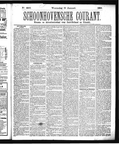 Schoonhovensche Courant 1906-01-31