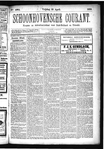 Schoonhovensche Courant 1919-04-25