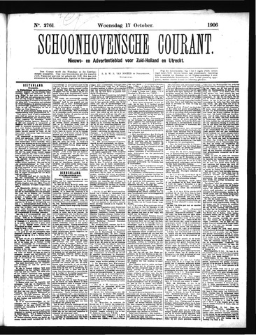 Schoonhovensche Courant 1906-10-17