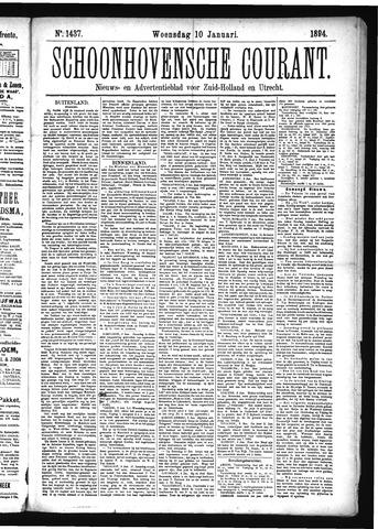 Schoonhovensche Courant 1894-01-10