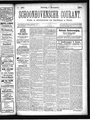 Schoonhovensche Courant 1918-12-03