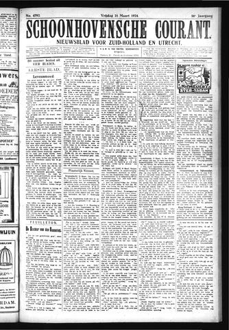 Schoonhovensche Courant 1924-03-21