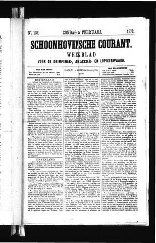 Schoonhovensche Courant 1872-02-25