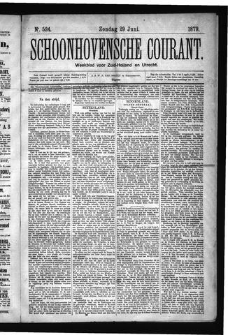 Schoonhovensche Courant 1879-06-29