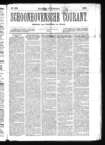 Schoonhovensche Courant 1888-02-04