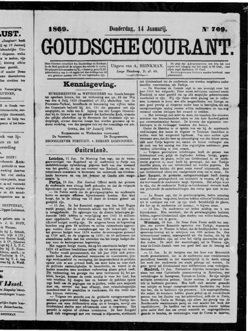 Goudsche Courant 1869-01-14