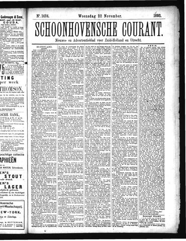 Schoonhovensche Courant 1893-11-22