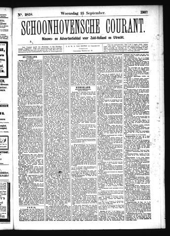 Schoonhovensche Courant 1907-09-25