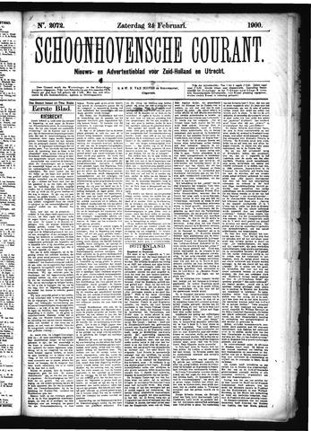 Schoonhovensche Courant 1900-02-24