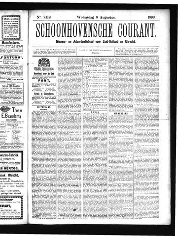 Schoonhovensche Courant 1900-08-08