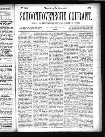 Schoonhovensche Courant 1892-09-14