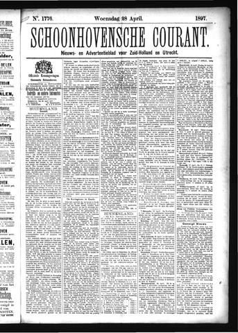 Schoonhovensche Courant 1897-04-28