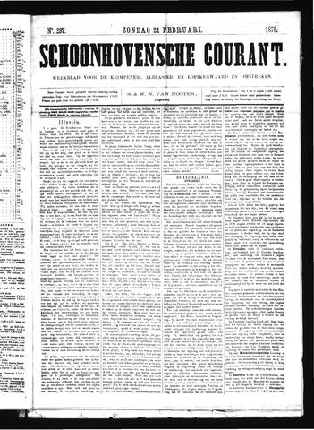 Schoonhovensche Courant 1875-02-21