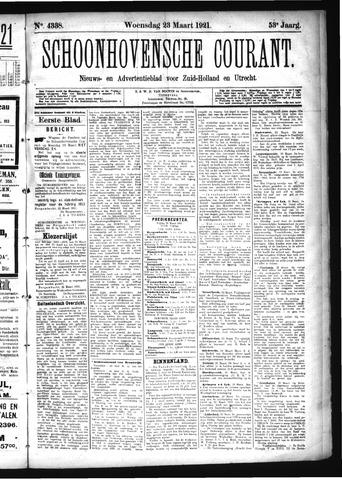 Schoonhovensche Courant 1921-03-23