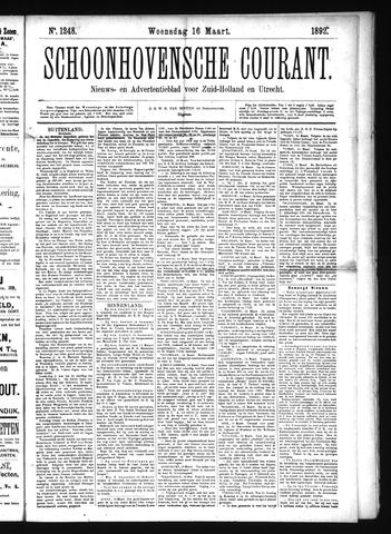 Schoonhovensche Courant 1892-03-16