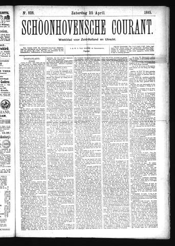 Schoonhovensche Courant 1885-04-25