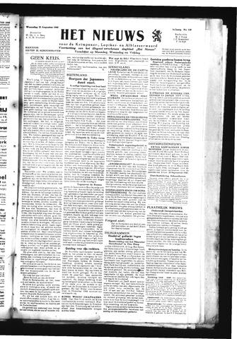 Schoonhovensche Courant 1945-08-22