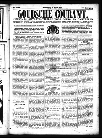 Goudsche Courant 1926-04-07