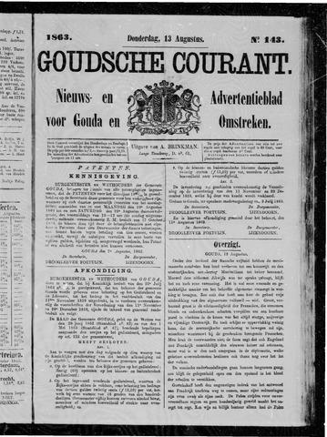Goudsche Courant 1863-08-13