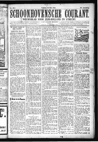 Schoonhovensche Courant 1924-05-30