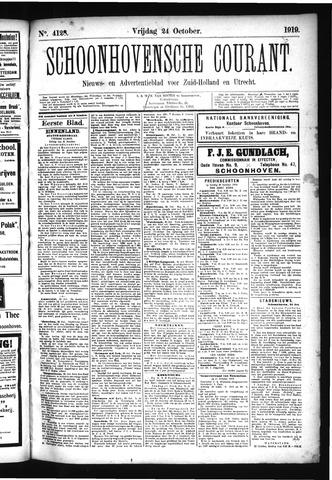 Schoonhovensche Courant 1919-10-24