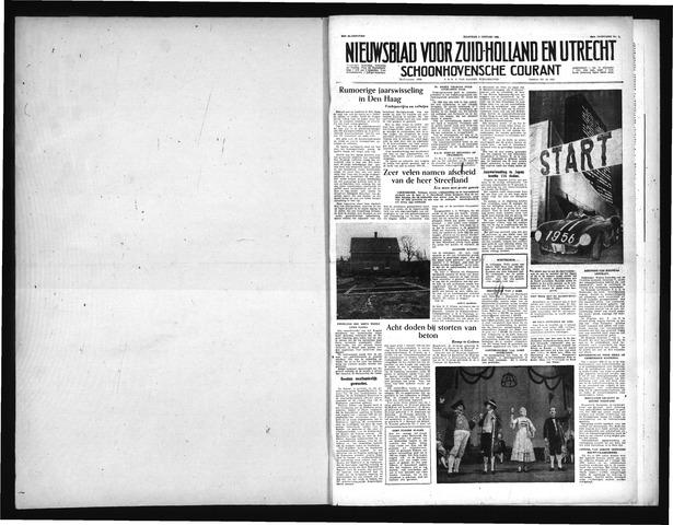 Schoonhovensche Courant 1956-01-02