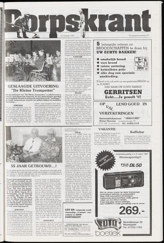 Dorpskrant 1987-02-25