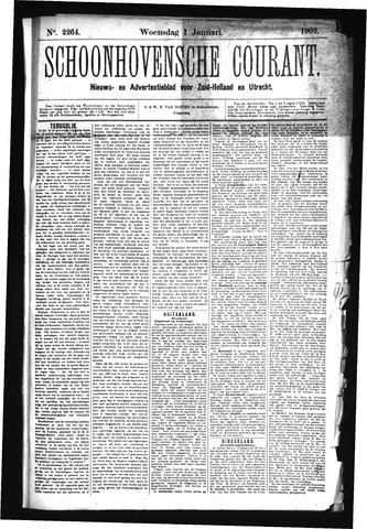 Schoonhovensche Courant 1902-01-01