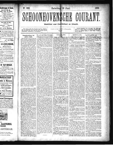 Schoonhovensche Courant 1888-06-16