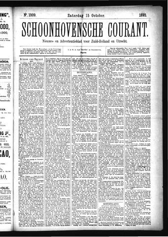 Schoonhovensche Courant 1892-10-15