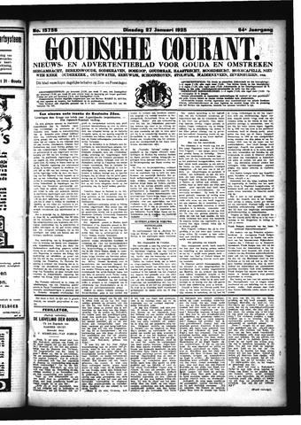 Goudsche Courant 1925-01-27