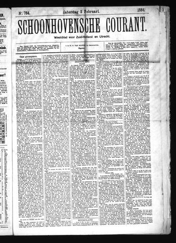 Schoonhovensche Courant 1884-02-02