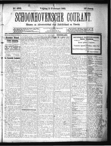 Schoonhovensche Courant 1921-02-11