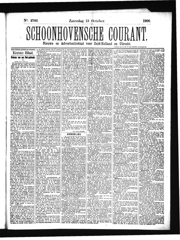 Schoonhovensche Courant 1906-10-13